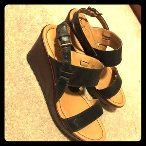 Black BOC Lizzie wedges 8W
